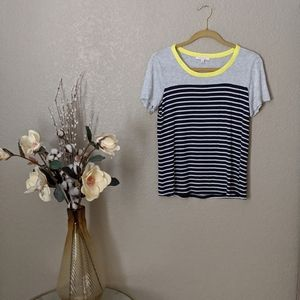 Anthropologie Skies Are Blue Striped Top Sz M